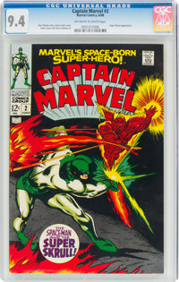 Captain Marvel #2 (Marvel, 1968) CGC NM 9.4 Off-white to white pages