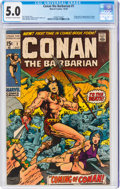 Bronze Age (1970-1979):Adventure, Conan the Barbarian #1 (Marvel, 1970) CGC VG/FN 5.0 Off-white to white pages....
