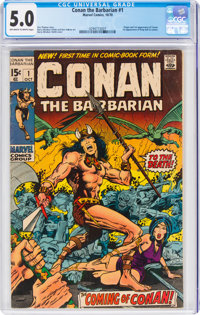 Conan the Barbarian #1 (Marvel, 1970) CGC VG/FN 5.0 Off-white to white pages