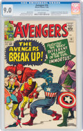 Silver Age (1956-1969):Superhero, The Avengers #10 (Marvel, 1964) CGC VF/NM 9.0 Off-white to white pages....