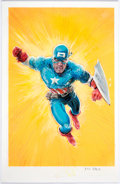 Original Comic Art:Paintings, Kyle Baker - Isaiah Bradley Captain America Painting Original Art (c. 2019)....