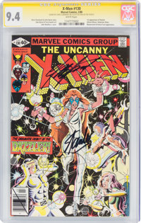 X-Men #130 Signature Series - Stan Lee and Chris Claremont (Marvel, 1980) CGC NM 9.4 White pages
