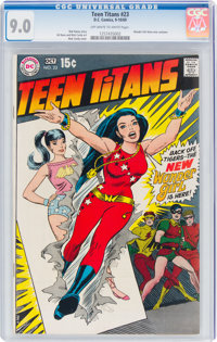 Teen Titans #23 (DC, 1969) CGC VF/NM 9.0 Off-white to white pages