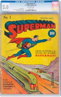 Superman #3 (DC, 1940) CGC GD 2.0 Off-white pages