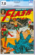 Golden Age (1938-1955):Superhero, Flash Comics #39 (DC, 1943) CGC FN/VF 7.0 Off-white pages....