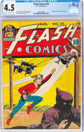 Golden Age (1938-1955):Superhero, Flash Comics #20 (DC, 1941) CGC VG+ 4.5 Cream to off-white pages....