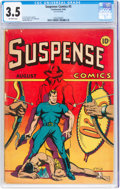 Golden Age (1938-1955):Adventure, Suspense Comics #5 (Continental Magazines, 1944) CGC VG- 3.5 Off-white pages....