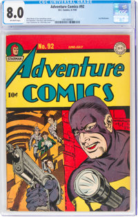Adventure Comics #92 (DC, 1944) CGC VF 8.0 Off-white pages