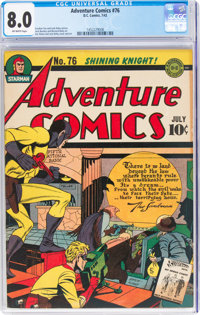 Adventure Comics #76 (DC, 1942) CGC VF 8.0 Off-white pages