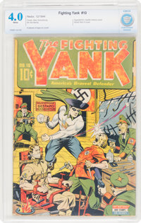 Fighting Yank #10 (Nedor Publications, 1944) CBCS VG 4.0 White pages