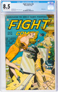 Golden Age (1938-1955):War, Fight Comics #34 (Fiction House, 1944) CGC VF+ 8.5 Cream to off-white pages....