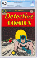 Golden Age (1938-1955):Superhero, Detective Comics #94 (DC, 1944) CGC NM- 9.2 Off-white to white pages....