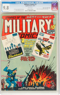 Military Comics #3 Mile High Pedigree (Quality, 1941) CGC NM/MT 9.8 White pages