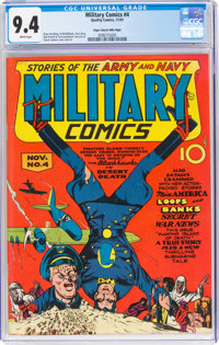 Military Comics #4 Mile High Pedigree (Quality, 1941) CGC NM 9.4 White pages