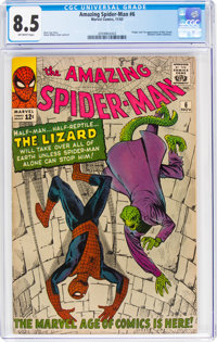 The Amazing Spider-Man #6 (Marvel, 1963) CGC VF+ 8.5 Off-white pages
