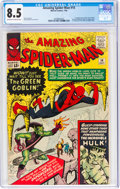 Silver Age (1956-1969):Superhero, The Amazing Spider-Man #14 (Marvel, 1964) CGC VF+ 8.5 Off-white to white pages....