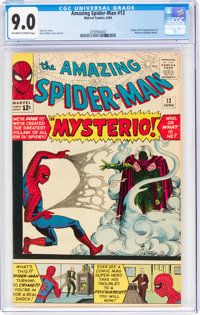 The Amazing Spider-Man #13 (Marvel, 1964) CGC VF/NM 9.0 Off-white to white pages