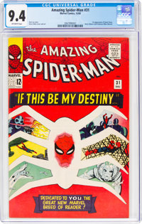 The Amazing Spider-Man #31 (Marvel, 1965) CGC NM 9.4 Off-white pages