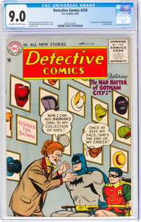 Detective Comics #230 (DC, 1956) CGC VF/NM 9.0 Off-white to white pages