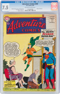 Silver Age (1956-1969):Superhero, Adventure Comics #260 (DC, 1959) CGC VF- 7.5 Off-white to white pages....