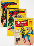 Golden Age (1938-1955):Superhero, Superman-Related Group of 3 (DC, 1949-50) Condition: Average FR/GD.... (Total: 3 )