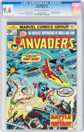 Bronze Age (1970-1979):Superhero, The Invaders #1 (Marvel, 1975) CGC NM+ 9.6 Off-white to white pages....