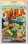 Bronze Age (1970-1979):Superhero, The Incredible Hulk #180 Signature Series: Stan Lee (Marvel, 1974) CGC NM 9.4 Cream to off-white pages....