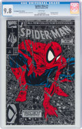 Modern Age (1980-Present):Superhero, Spider-Man #1 Silver Edition Bagged (Marvel, 1990) CGC NM/MT 9.8 White pages....