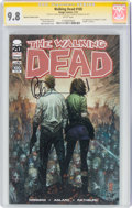 Modern Age (1980-Present):Horror, The Walking Dead #100 Silvestri Variant Cover - Signature Series (Image, 2012) CGC NM/MT 9.8 White pages....