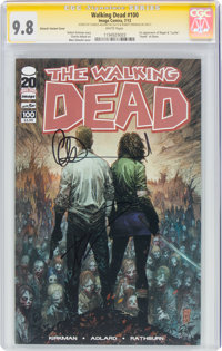 The Walking Dead #100 Silvestri Variant Cover - Signature Series (Image, 2012) CGC NM/MT 9.8 White pages