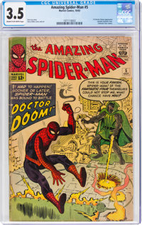 The Amazing Spider-Man #5 (Marvel, 1963) CGC VG- 3.5 Cream to off-white pages