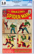 Silver Age (1956-1969):Superhero, The Amazing Spider-Man #4 (Marvel, 1963) CGC GD/VG 3.0 Off-white to white pages....