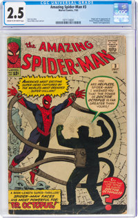 The Amazing Spider-Man #3 (Marvel, 1963) CGC GD+ 2.5 Cream to off-white pages
