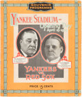 Baseball Collectibles:Programs, 1923 Yankee Stadium Grand Opening Official Program....