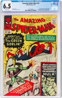 The Amazing Spider-Man #14 (Marvel, 1964) CGC FN+ 6.5 Off-white pages