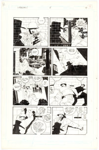 Kyle Baker The Shadow #8 Story Page 9 Original Art (DC, 1988)
