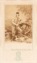 Photography:Studio Portraits, George Armstrong Custer: Albumen Photograph by James Scholten, Circa 1874. ...