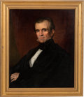 Antiques:Decorative Americana, James K. Polk: Oil on Canvas Attributed to George Drury....