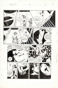 Kyle Baker The Shadow #8 Story Page 13 Original Art (DC, 1988)