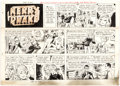 Original Comic Art:Comic Strip Art, Alfred Andriola Kerry Drake Sunday Comic Strip Original Art dated 6-14-70 (Field Enterprises Inc., 1970)....
