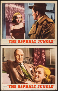 "The Asphalt Jungle (MGM, R-1954). Fine+. Lobby Cards (2) (11"" X 14""). Film Noir. ... (Total: 2 Items)"