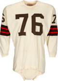 Football Collectibles:Uniforms, 1962-67 Lou Groza Game Worn Cleveland Browns Jersey, MEARS A10...