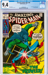 The Amazing Spider-Man #93 (Marvel, 1971) CGC NM 9.4 White pages