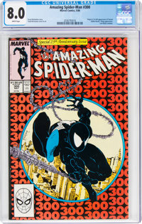 The Amazing Spider-Man #300 (Marvel, 1988) CGC VF 8.0 White pages