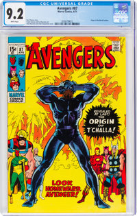 The Avengers #87 (Marvel, 1971) CGC NM- 9.2 White pages
