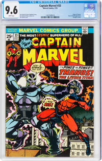 Captain Marvel #33 (Marvel, 1974) CGC NM+ 9.6 White pages