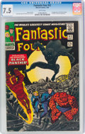 Silver Age (1956-1969):Superhero, Fantastic Four #52 (Marvel, 1966) CGC VF- 7.5 White pages....