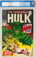 Silver Age (1956-1969):Superhero, The Incredible Hulk #102 (Marvel, 1968) CGC VF+ 8.5 Off-white pages....
