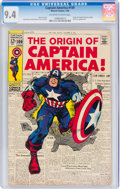 Silver Age (1956-1969):Superhero, Captain America #109 (Marvel, 1969) CGC NM 9.4 Off-white to white pages....