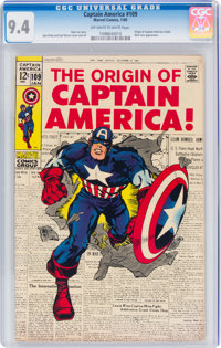 Captain America #109 (Marvel, 1969) CGC NM 9.4 Off-white to white pages
